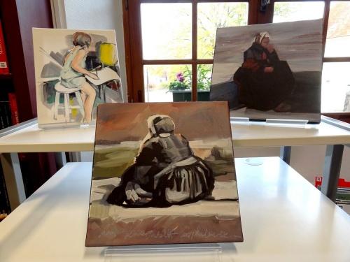 """Maryvonne Garrault, artiste-peintre, présente son ouvrage """"Partition Bretonne"""" à la Bibliothèque Municipale de Châtillon sur Seine..."""