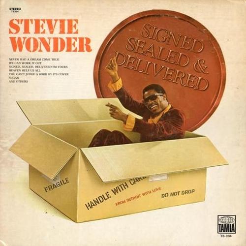 """Stevie Wonder : Album """" Signed, Sealed & Delivered """" Tamla Records TS 304 [ US ]"""