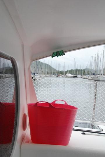 L'eau sur le bateau