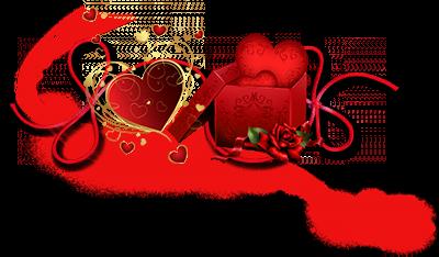 Mes créations de barres séparatives St Valentin png