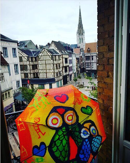 Parapluies dans l'ouest...