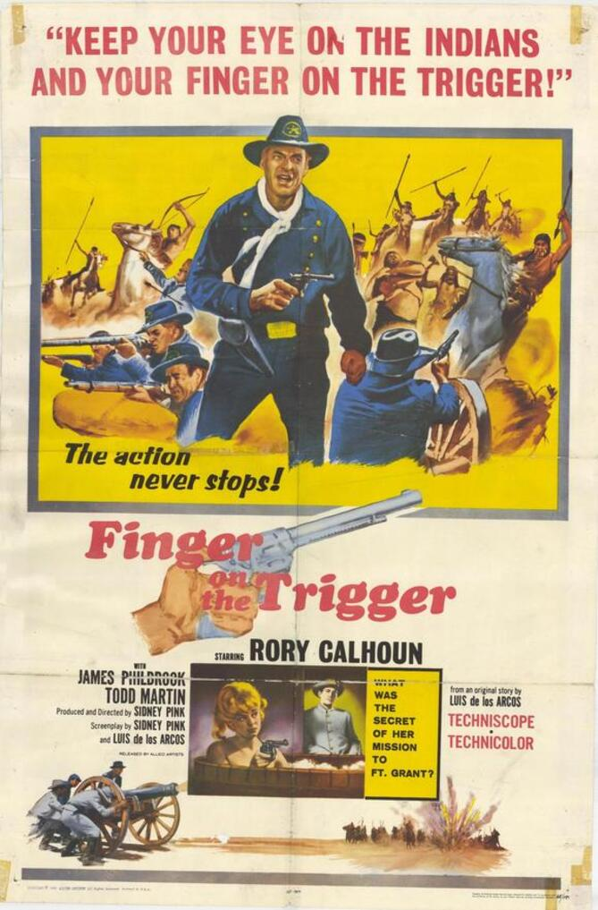 FINGER ON THE TRIGGER BOX OFFICE USA 1965