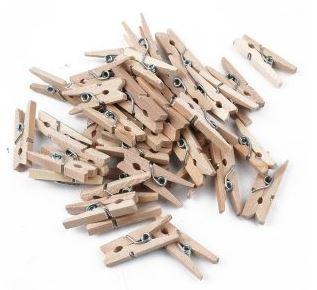 25 id es de recup avec des pinces linge en bois meroute en clis. Black Bedroom Furniture Sets. Home Design Ideas