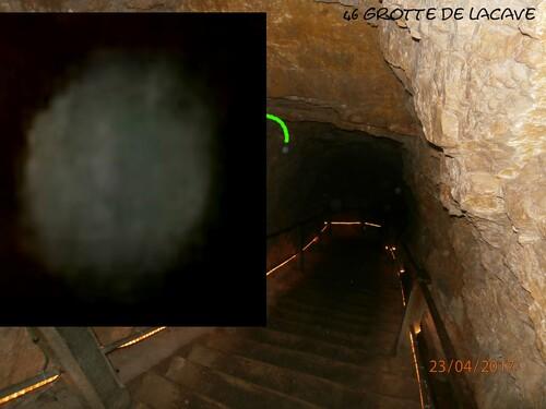 orbes dans la grotte de Lacave 1