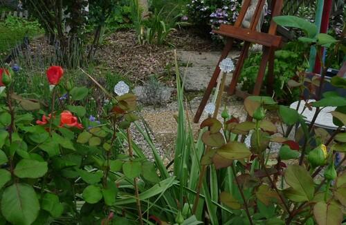 Jardin...récup...fleurs