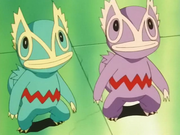 Kecleon et Kecleon violet anime screenshot