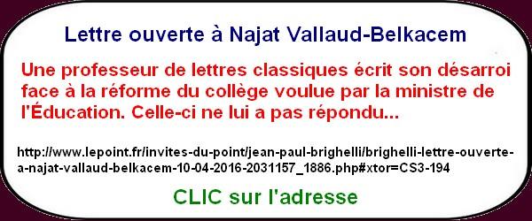 Najat Vallaud Belkacem ne répond pas à une prof?