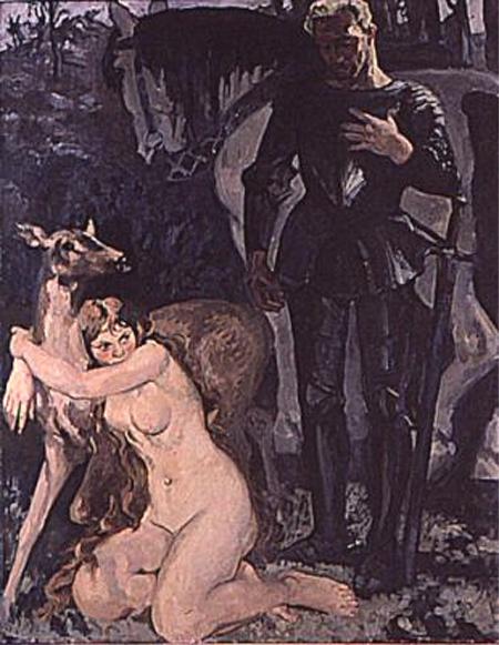la femme et la chèvre