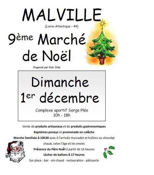 Dimanche 1er décembre : Marché de Noël de Malville