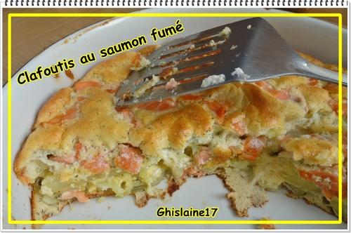 Clafoutis au saumon fumé