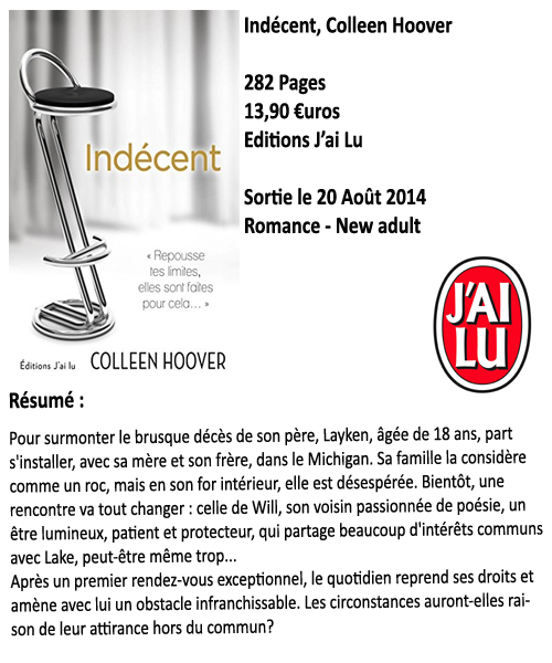 Indécent, Colleen Hoover
