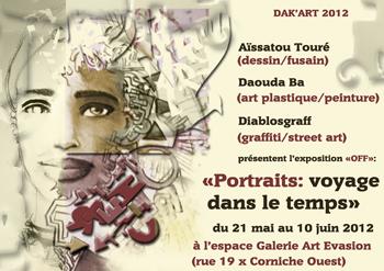 Notre exposition sur le portrait (Biennale de l'Art Africain Contemporain 2012).