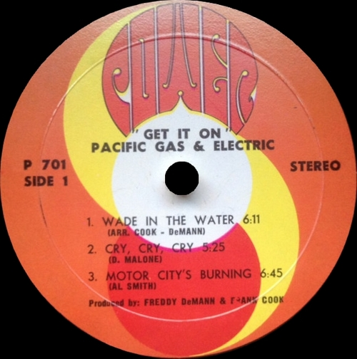 "Pacific Gas & Electric : Album "" Get It On "" Power Records P-701 [ US ] en Décembre 1968"