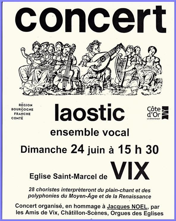 Le Laostic donnera un concert dimanche 24 juin dans l'église saint Marcel de Vix