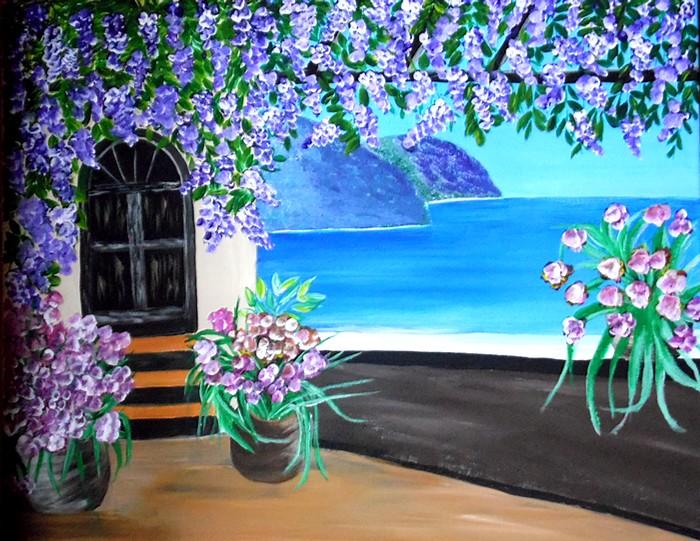 Paysage  toile acrylique