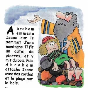 Dieu met Abraham à l'épreuve, Abraham offre Isaac en sacrifice