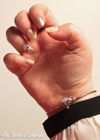nail art, renard, bracelet, 3d