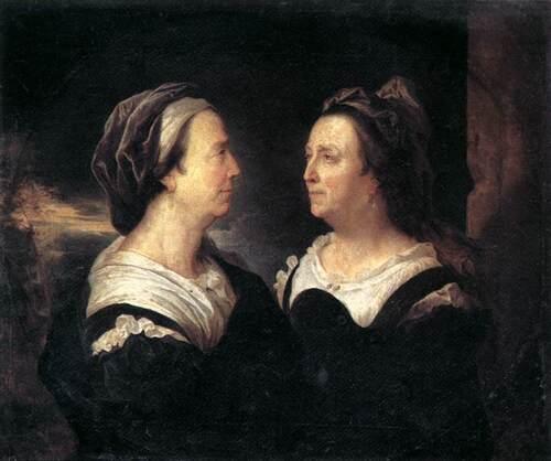 Portraits- en double au féminin et en peinture