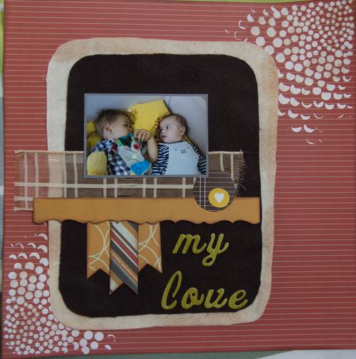 Tournoi de la Fée du scrap - 1er Tour - Mylène : My Love