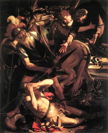 17 CARAVAGGIO CONVERSION OF ST. PAUL THE