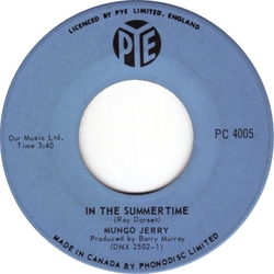 Mungo Jerry : In The Summertime (1970)