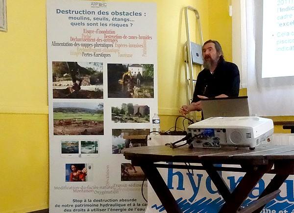 Le projet d'effacement du bief du moulin de Belan sur Ource a donné lieu à une réunion constructive proposée par l'A.R.P.O.H.C.
