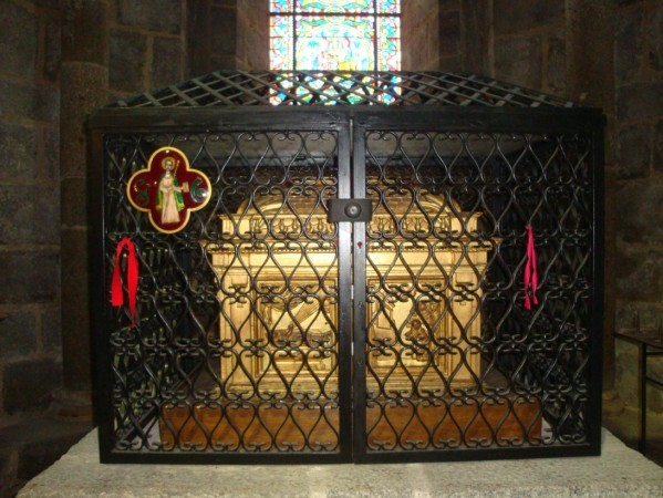 Le Dorat, Chapelle du déambulatoire, reliquaire