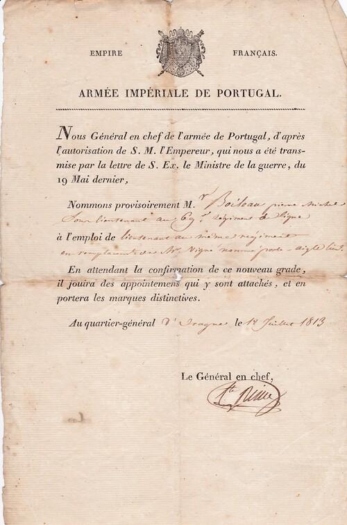 Nomination Lieutenant Boillot