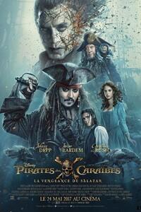 Pirates des Caraïbes : la Vengeance de Salazar : Les temps sont durs pour le Capitaine Jack, et le destin semble même vouloir s'acharner lorsqu'un redoutable équipage fantôme mené par son vieil ennemi, le terrifiant Capitaine Salazar, s'échappe du Triangle du Diable pour anéantir tous les flibustiers écumant les flots… Sparrow compris ! Le seul espoir de survie du Capitaine Jack est de retrouver le légendaire Trident de Poséidon, qui donne à celui qui le détient tout pouvoir sur les mers et les océans. Mais pour cela, il doit forger une alliance précaire avec Carina Smyth, une astronome aussi belle que brillante, et Henry, un jeune marin de la Royal Navy au caractère bien trempé. À la barre du Dying Gull, un minable petit rafiot, Sparrow va tout entreprendre pour contrer ses revers de fortune, mais aussi sauver sa vie face au plus implacable ennemi qu'il ait jamais eu à affronter… ----- ... Origine : américain  Réalisation : Joachim Rønning  Durée : 2h 09min  Acteur(s) : Johnny Depp,Javier Bardem,Brenton Thwaites  Genre : Aventure,Fantastique,Action  Date de sortie : 24 mai 2017  Critiques Spectateurs : 4,5