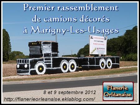 Marigny les Usages et ses camions décorés