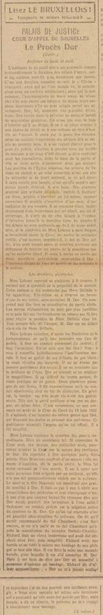Palais de Justice, Le Procès Dor (Le bruxellois, 17 avril 1917)