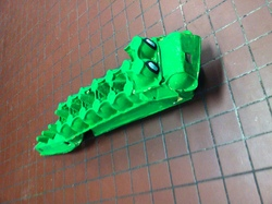 Crocodile en boite à oeufs