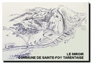 Le village et le site montagnard