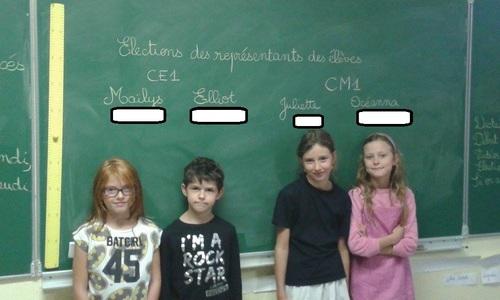 Nos quatre élus pour l'année scolaire