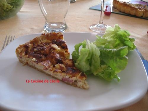 Tarte au jambon, mozzarella et ricotta