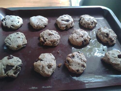 Cookies chocolat/raisin pour le goûter {Vegan}