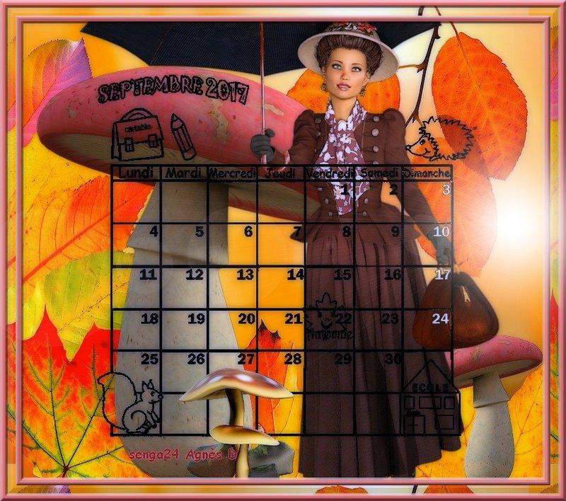 CREA(S) DE SEPTEMBRE 2017 (calendrier 2)