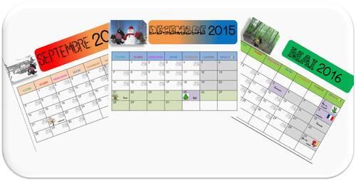 Calendrier du loup 2015 / 2016