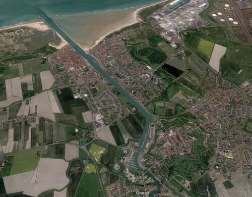 Gravelines et Grand-Fort-Philippe (Google Maps 3D)