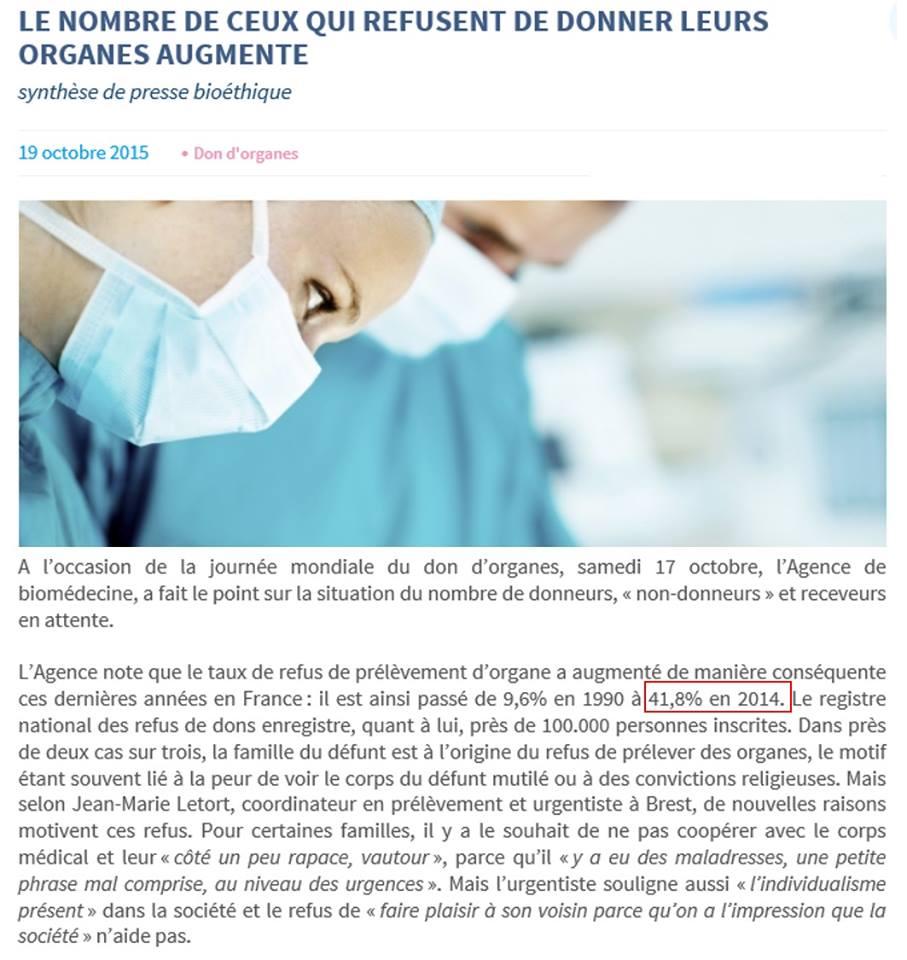 refus don organes