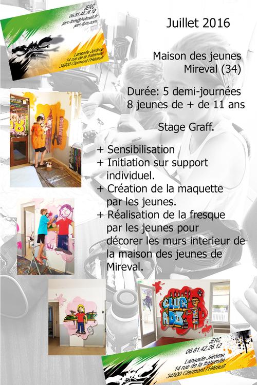 Stage graff, Decoration par les jeunes de la salle des adolescents de Mireval (34) 07/2016 Production dans une tres bonne ambiance super stage. Les photos http://atelier-graff.blogg.org