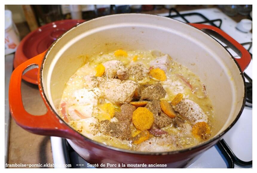 Sauté de Porc à la moutarde ancienne