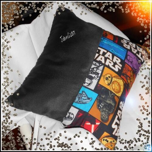 Coussin et petit sac Star Wars