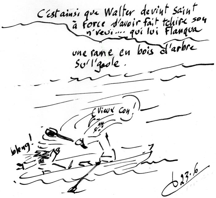 Namur/Meuse/de Maas/St Walter,drame chrétien en noir et blanc