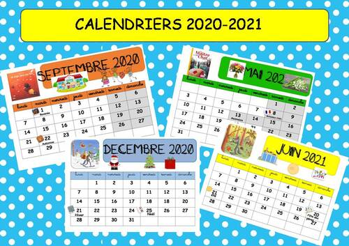 CALENDRIERS 2020-2021