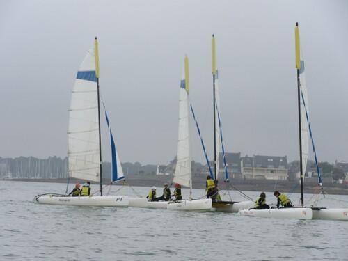 Deuxième séance de catamaran
