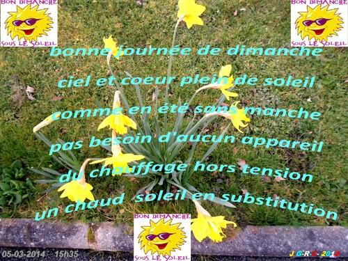 REFLEXION DE LA SEMAINE    09/03/2014