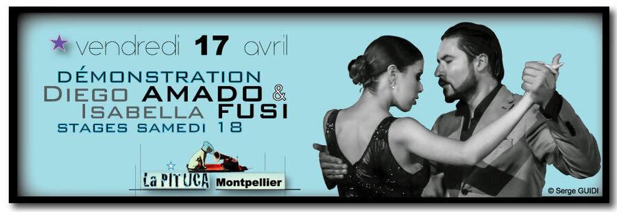 ★ Isabella FUSI & Diego AMADO à La PITUCA ce vendr. 17 avril, stages le 18 ★