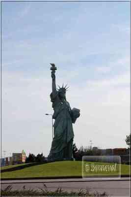Ronds-points Alsace Haut-Rhin Colmar statue de la Liberté Bartholdi