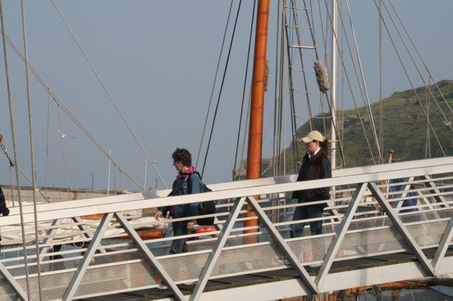 """Embarquement sur le voilier """" Tante Fine """""""